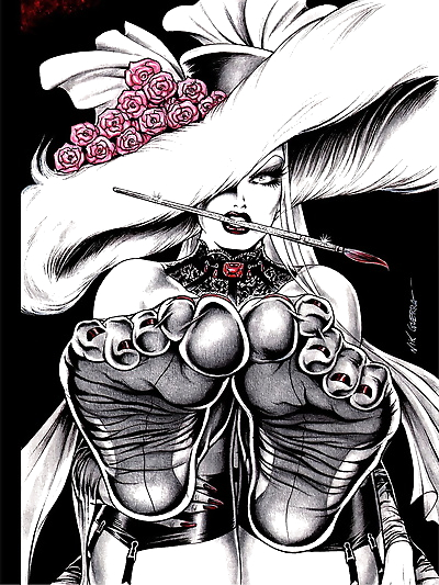 Nik Guerra Dark Divas Pin-Up..